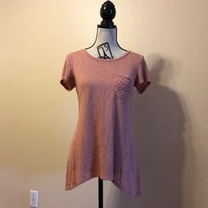 Bobeau coral mauve asymmetrical hem Top Small